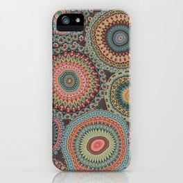 Boho Patchwork-Vintage colors iPhone Case