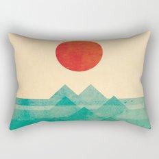 The ocean, the sea, the wave Rectangular Pillow