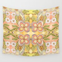 ethnic Wall Tapestries featuring Ethnic Floral by Louise Machado