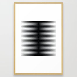 op art - horizontal triangles Framed Art Print