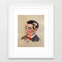 pee wee Framed Art Prints featuring Pee Wee Herman by Allison K.