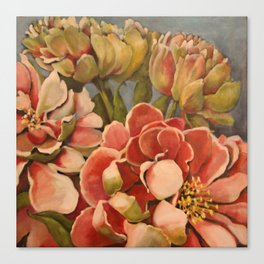 Peonies in Pink Canvas Print