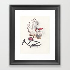 Do everything the wrong way, it's better Framed Art Print