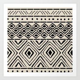 African Mud Cloth // Bone Art Print