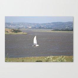 *Sailing into Launceston Tasmania* Canvas Print