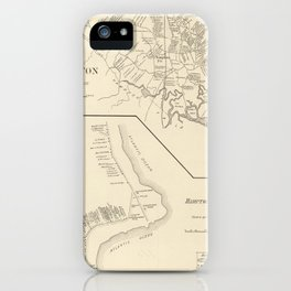 Vintage Map of Hampton Beach NH (1892) iPhone Case