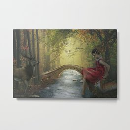 Beauty on the forest stream Metal Print