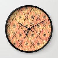 victorian Wall Clocks featuring VICTORIAN SUNSET by Diego Verhagen