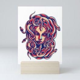 Medusa Snake Head Greek Mythology Gift Monster Mini Art Print