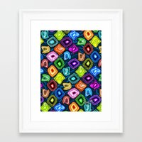 geode Framed Art Prints featuring Geode Delight! by Sylvie Heasman