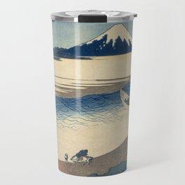 Hokusai Katsushika -  The Tama River In Musashi Province Travel Mug