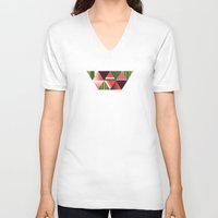 watermelon V-neck T-shirts featuring watermelon by Gray