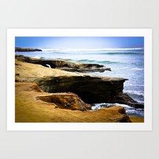 Seaside Cliffs Art Print