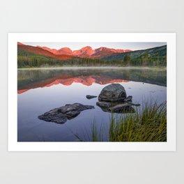 Sunrise Over Sprague Lake - Rocky Mountain National Park Art Print