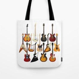 Too Many Guitars! Tote Bag