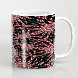 Intricate Black Red and White Kaleidoscope Coffee Mug