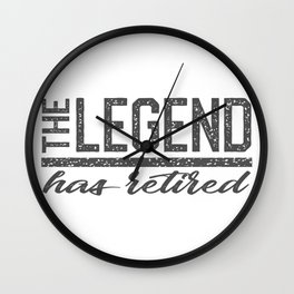 retirement of the legend Wall Clock