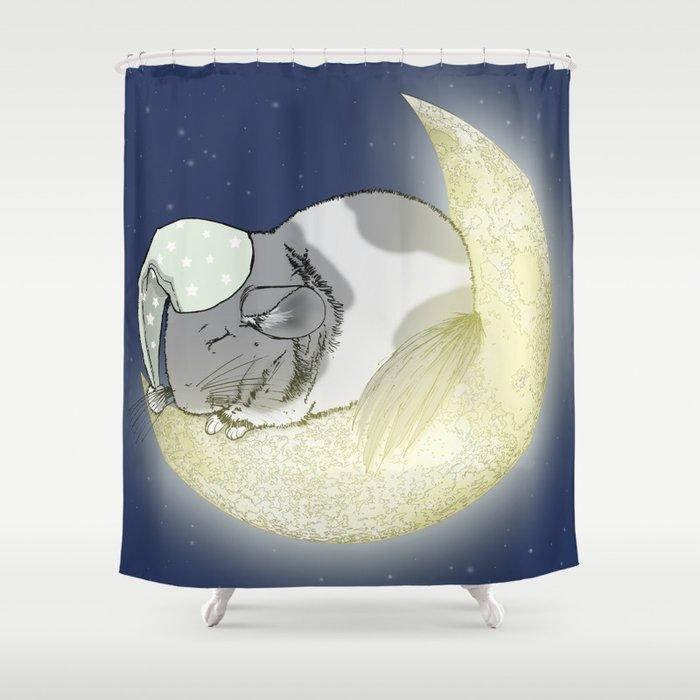 Good Night Little Pinto Shower Curtain