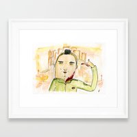 taxi driver Framed Art Prints featuring Taxi Driver by Dobleu