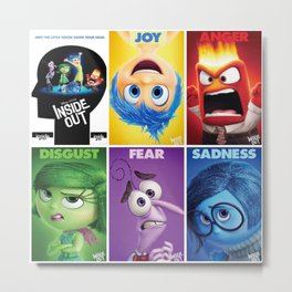 animation,disney,cartoon,inside out,movie & tv,3D Metal Print