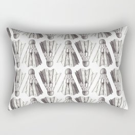 Badminton Shuttlecocks Pencil Drawing Rectangular Pillow