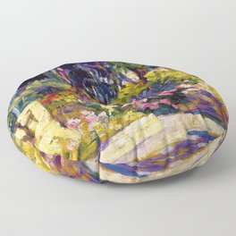 The Flowered Terrace - Digital Remastered Edition Floor Pillow