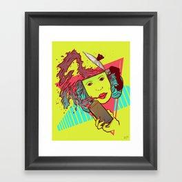 Morning bust hello Framed Art Print