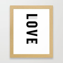 Rx LOVE in GREY Framed Art Print