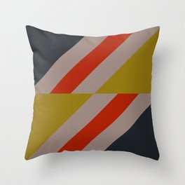 Modernist Geometric Graphic Art Throw Pillow