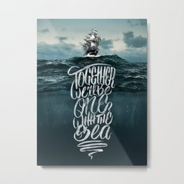 One With The Sea Metal Print