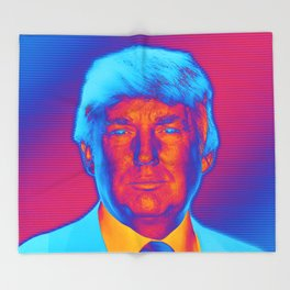 Pop Art President Trump Throw Blanket