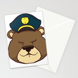police policeman officer gift security guard law Stationery Cards