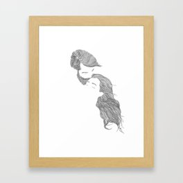 Tender Love, in transparent/black Framed Art Print