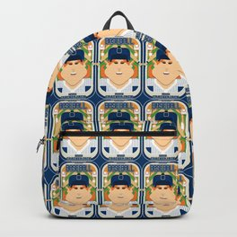 Baseball Blue Pinstripes - Deuce Crackerjack - Jacqui version Backpack