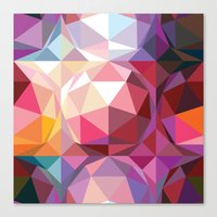 Geodesic dome pattern Canvas Print