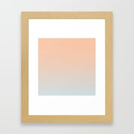 WEST COAST - Minimal Plain Soft Mood Color Blend Prints Framed Art Print