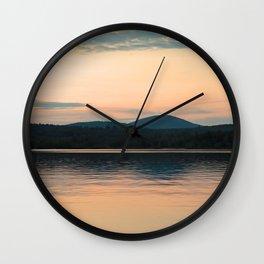 Long Lake Adirondack Sunset Wall Clock