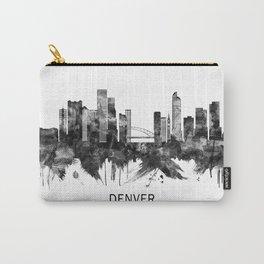 Denver Colorado Skyline BW Carry-All Pouch