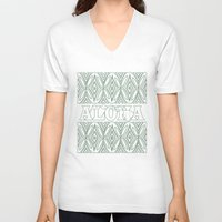 aloha V-neck T-shirts featuring ALOHA by Lonica Photography & Poly Designs