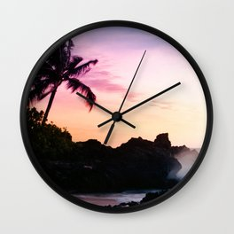 Paako Beach Sunset Jewels Wall Clock