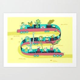 The Limo Art Print