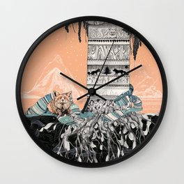 Fox Tree Wall Clock