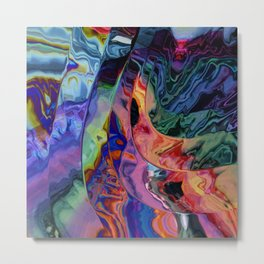 Quadruple rainbow wave Metal Print