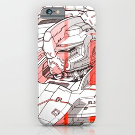 Red Mecha iPhone Case