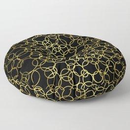 Small Gold Circles Floor Pillow