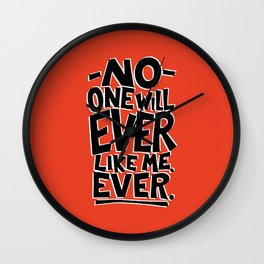 Ugly Thought No 3 Wall Clock