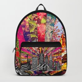 Linocut New York Blooming Backpack