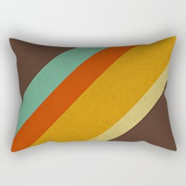Retro 70s Color Palette Rectangular Pillow
