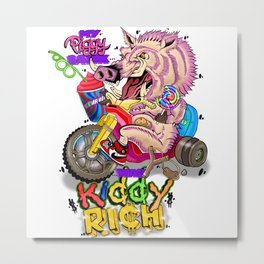 Kiddy Rich Metal Print