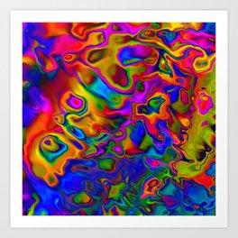 Chromatic Convections Art Print